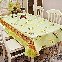 Tischdecke/wasserdicht,pvc,einweg-tischdecke/Ölbeweis tischdecke/tischtuch/ländlichen,kunststoff,stoffe,dicker tisch matte-F 137x200cm(54x79inch)