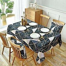 Tischdecke Wasserdicht Schwarz Wandfliese