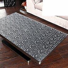 Tischdecke Wasserdicht tischdecke Transparent,Frosted couchtisch tisch tuch Tischtuch Weichglas,Pvc-anti-bügeln,Untersetzer-I 60x120cm(24x47inch)