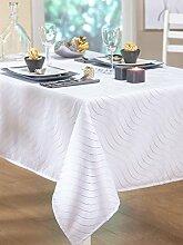 Tischdecke Wave weiß 150x 250