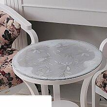 Tischdecke/weiches glas,roundtable],pvc tischdecke/wasserdicht],transparente tabelle mat/runde tischdecke/tischtuch/frosted crystal platte-C Durchmesser100cm(39inch)