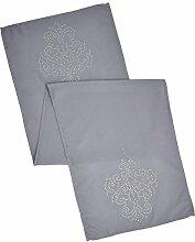 Tischdecke Weihnachten   40x140 Grau