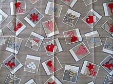 Tischdecke Weihnachten Grau Rot 85x85 Bilderweihnach