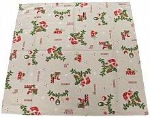 Tischdecke Weihnachten Natur Oh Christmas 85x85