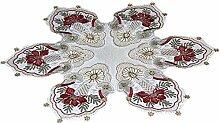 Tischdecke Weihnachten Plauener Spitze Kerze
