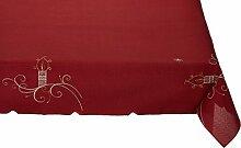 Tischdecke Weihnachten Rot  150x220