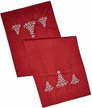 Tischdecke Weihnachten Rot  40x140