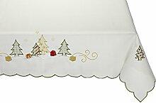 Tischdecke Weihnachten Weiß  110x160