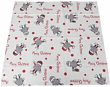 Tischdecke Weihnachten Wichtel Merry Christmas 85x85