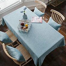 Tischdecke Weihnachtstischdecke Einfarbig Baumwolle Klein Frisch Rechteckig Schlicht Wohnzimmer Tischdecke Tischdecke,A-90*90cm