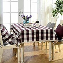 Tischdecke Weihnachtstischdecke Plaid Wasserdicht Baumwollleinen Tischdecke Mediterran Pastoral Couchtisch Rechteckig,F-140*180cm