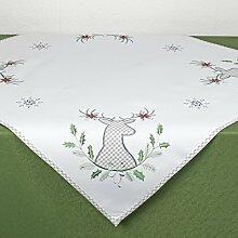 Tischdecke WINTERELCH / 85x85xcm / moderne Tischdecke zu Weihnachten