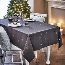 Tischdecke: Winterlich bestickte Tischwäsche