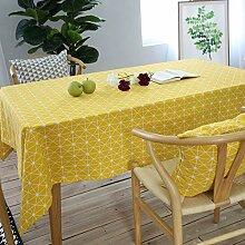 Tischdecken aus Baumwollleinen, Rechteckige