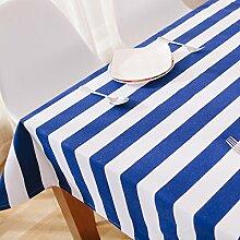 Tischdecken Bunte gestreifte Baumwolle und Leinen