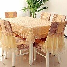 Tischdecken, Einfache und moderne rechteckige Tischdecke Tischdecke Tischdecke Stuhl Kissenbezug Kaffeetisch Stoff Spitze Stoff Pastoral , Hotel Tischdecke ( Farbe : B , größe : 6# )