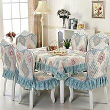 Tischdecken, Europäische Stil Tischdecke Esszimmer Stuhl Kissen Rechteckige Tischdecke Kaffee Tischdecke Tischfahne Europäischen Stoff Runde Tisch , Hotel Tischdecke ( Farbe : P , größe : 1# )