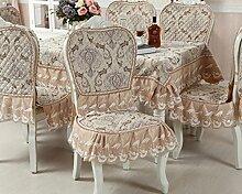 Tischdecken, Europäische Stil Tischdecke Esszimmer Stuhl Kissen Rechteckige Tischdecke Kaffee Tischdecke Tischfahne Europäischen Stoff Runde Tisch , Hotel Tischdecke ( Farbe : A , größe : 4# )