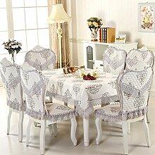Tischdecken, Europäische Stil Tischdecke Esszimmer Stuhl Kissen Rechteckige Tischdecke Kaffee Tischdecke Tischfahne Europäischen Stoff Runde Tisch , Hotel Tischdecke ( Farbe : Q , größe : 4# )