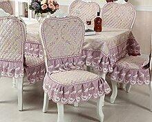 Tischdecken, Europäische Stil Tischdecke Esszimmer Stuhl Kissen Rechteckige Tischdecke Kaffee Tischdecke Tischfahne Europäischen Stoff Runde Tisch , Hotel Tischdecke ( Farbe : L , größe : 2# )