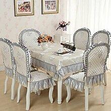 Tischdecken, Europäische Stil Tischdecke Esszimmer Stuhl Kissen Rechteckige Tischdecke Kaffee Tischdecke Tischfahne Europäischen Stoff Runde Tisch , Hotel Tischdecke ( Farbe : M , größe : 2# )