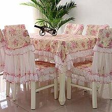 Tischdecken, Europäische Stil Tischdecke Stuhl Kissenbezug Spitze Stoff Stuhl-Sets Kaffee Tischdecke rechteckige Tischdecke einfache Pastoral , Hotel Tischdecke ( Farbe : A , größe : 2# )