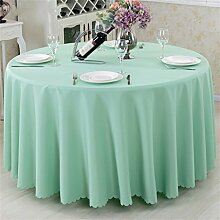 Tischdecken, Europäischer Stil Haushalt Fest Farbe Tuch Hotel Rundschreiben Rundtisch Quadratisch Tisch Tischdecke Restaurant Tischdecke , Hotel Tischdecke ( Farbe : #3 , größe : Round 240cm )