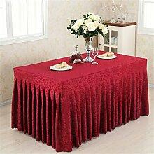 Tischdecken geraffte Falten Tisch Rock - Polyester