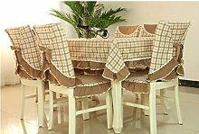 Tischdecken, Hirten-Tischdecke-Gewebe-Gitter-Tabellen-Stoff-Stuhl-Abdeckungs-Kissen-Esszimmer-Stuhl-gesetzte Tischdecke-Kaffee-Tabellen-Stuhl-Sätze , Hotel Tischdecke ( Farbe : C , größe : 5# )