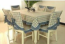 Tischdecken, Hirten-Tischdecke-Gewebe-Gitter-Tabellen-Stoff-Stuhl-Abdeckungs-Kissen-Esszimmer-Stuhl-gesetzte Tischdecke-Kaffee-Tabellen-Stuhl-Sätze , Hotel Tischdecke ( Farbe : B , größe : 4# )