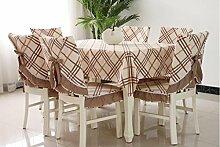 Tischdecken, Hirten-Tischdecke-Gewebe-Gitter-Tabellen-Stoff-Stuhl-Abdeckungs-Kissen-Esszimmer-Stuhl-gesetzte Tischdecke-Kaffee-Tabellen-Stuhl-Sätze , Hotel Tischdecke ( Farbe : H , größe : 4# )