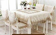 Tischdecken, Im europäischen Stil Tischtuch Stoff bespannt Stoff Kaffeetischdecke Pastoral Tischtuch Spitze-Tabellen-Flag Tischdecke Stuhl-Abdeckung , Hotel Tischdecke ( größe : # 14 )