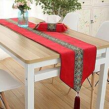 Tischdecken Jacquard Wildleder Tischfahne