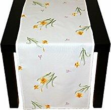 Tischdecken OSTERN Stickerei Narzissen Krokus