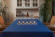 TISCHDECKEN oval pflegeleicht in Designs:Rustika, blau Maß: 110x295