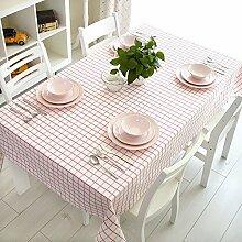 Tischdecken Pink Lattice Pastoral Restaurant Tischdecke ( größe : 200*140cm )