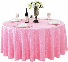 Tischdecken, Runde Tischdecke, europäischer Stil Hotelrestaurant, Haushalt Tischrock , Hotel Tischdecke ( Farbe : 1# , größe : 160cm )