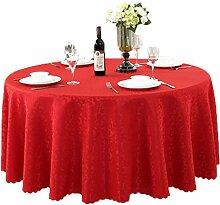 Tischdecken, Runde Tischdecke, europäischer Stil Hotelrestaurant, Haushalt Tischrock , Hotel Tischdecke ( Farbe : 4# , größe : 260cm )