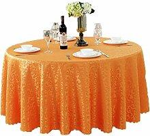 Tischdecken, Runde Tischdecke, europäischer Stil Hotelrestaurant, Haushalt Tischrock , Hotel Tischdecke ( Farbe : 4# , größe : 200cm )