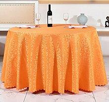 Tischdecken, Runde Tischdecke, europäisches Art-Hotel-Restaurant, Haushalt-Kaffeetisch-Rock , Hotel Tischdecke ( Farbe : 5# , größe : 240cm )