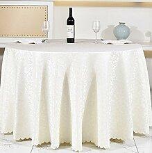 Tischdecken, Runde Tischdecke, europäisches Art-Hotel-Restaurant, Haushalt-Kaffeetisch-Rock , Hotel Tischdecke ( Farbe : 3# , größe : 200cm )