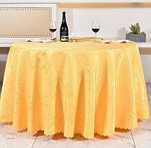Tischdecken, Runde Tischdecke, europäisches Art-HotelRestaurant, Haushalt-Kaffeetisch-Rock , Hotel Tischdecke ( Farbe : 2# , größe : 160cm )