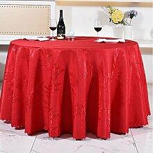 Tischdecken, Runde Tischdecke, europäisches Art-HotelRestaurant, Haushalt-Kaffeetisch-Rock , Hotel Tischdecke ( Farbe : 5# , größe : 320cm )