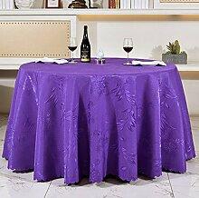 Tischdecken, Runde Tischdecke, europäisches Art-HotelRestaurant, Haushalt-Kaffeetisch-Rock , Hotel Tischdecke ( Farbe : 3# , größe : 240cm )