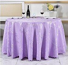 Tischdecken, Runde Tischdecke, europäisches Art-HotelRestaurant, Haushalt-Kaffeetisch-Rock , Hotel Tischdecke ( Farbe : 6# , größe : 220cm )