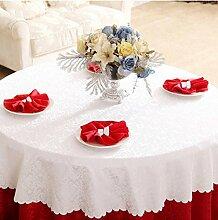 Tischdecken, Runde Tischdecke, Hotelrestaurant Haushalt, europäischer Stil Jacquard rot , Hotel Tischdecke ( Farbe : 3# , größe : 180cm )