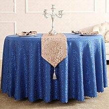 Tischdecken, Runde Tischdecke, Hotelrestaurant Haushalt, europäischer Stil Jacquard rot , Hotel Tischdecke ( Farbe : 1# , größe : 260cm )