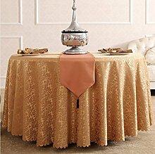 Tischdecken, Runde Tischdecke, Hotelrestaurant Haushalt, europäischer Stil Jacquard rot , Hotel Tischdecke ( Farbe : 6# , größe : 180cm )