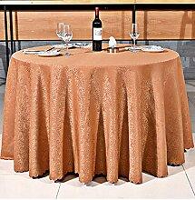 Tischdecken, Runder Tisch Tischdecke, europäisches Art-Hotel-Restaurant, Haushalt-Kaffeetisch-Rock , Hotel Tischdecke ( Farbe : 3# , größe : 320cm )