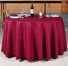 Tischdecken, Runder Tisch Tischdecke, europäisches Art-Hotel-Restaurant, Haushalt-Kaffeetisch-Rock , Hotel Tischdecke ( Farbe : 2# , größe : 300cm )